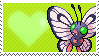 Shiny Butterfree by Marlenesstamps
