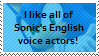 I like all of Sonic's english voice actors by Marlenesstamps