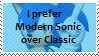 I prefer Modern Sonic over Classic by Marlenesstamps