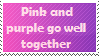 Pink and purple go well together by Marlenesstamps