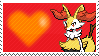 654 - Braixen by Marlenesstamps