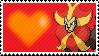 668 - Pyroar Male by Marlenesstamps