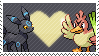Umbreon x Farfetch'd by Marlenesstamps