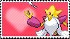Shiny Mega Alakazam by Marlenesstamps