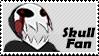 Skull Fan by Marlenesstamps