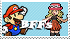 Paper Mario and Serena by Marlenesstamps