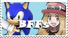 Sonic and Serena BFFs by Marlenesstamps