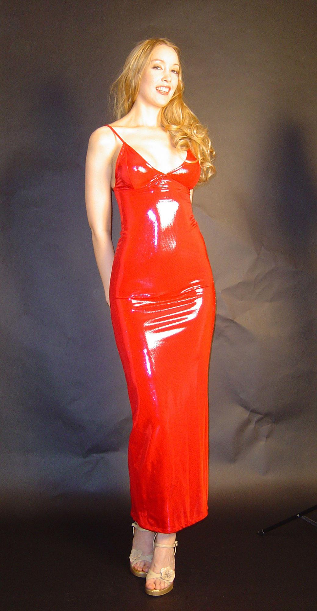 Latex dress orange fotoshude nude picture