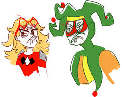 'Knock off Harley Quinn and Joker!!'