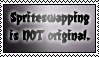 A stamp about spriteswapping by BoggyTheWorm