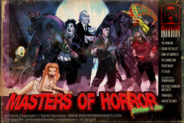 MASTERS OF HORROR by sideshowmonkey