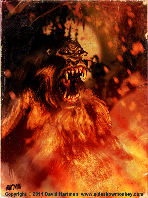 SKUNKAPE INFERNO by Hartman by sideshowmonkey