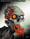 ZOMBIE HEAD 1 by Hartman by sideshowmonkey