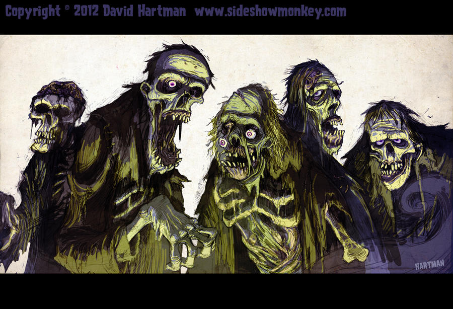 ZOMBIES! by Hartman by sideshowmonkey
