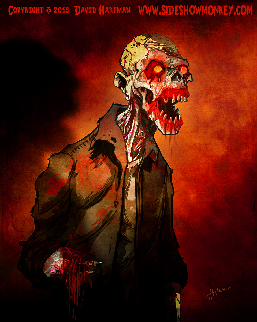 MUTANT ZOMBIE by Hartman by sideshowmonkey