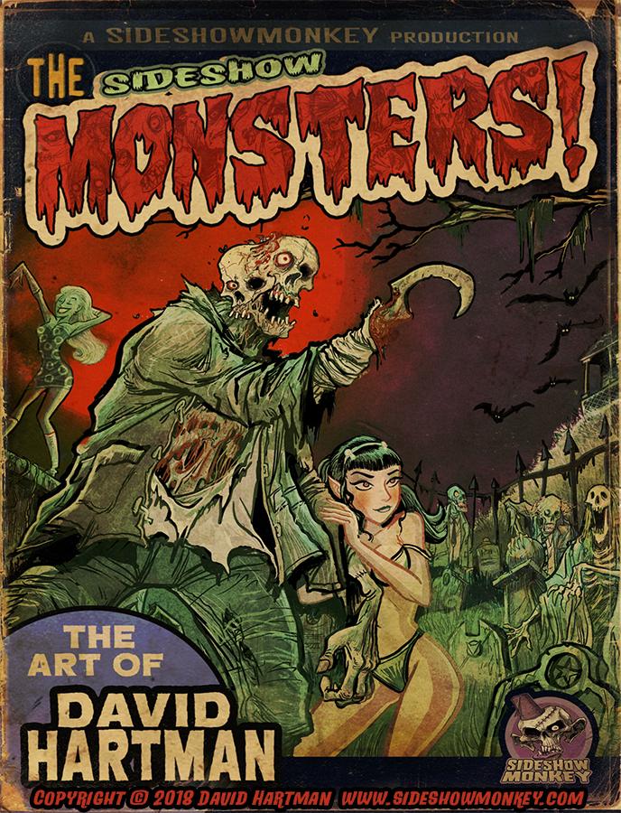 SIDESHOW MONSTERS ARTBOOK by Hartman by sideshowmonkey
