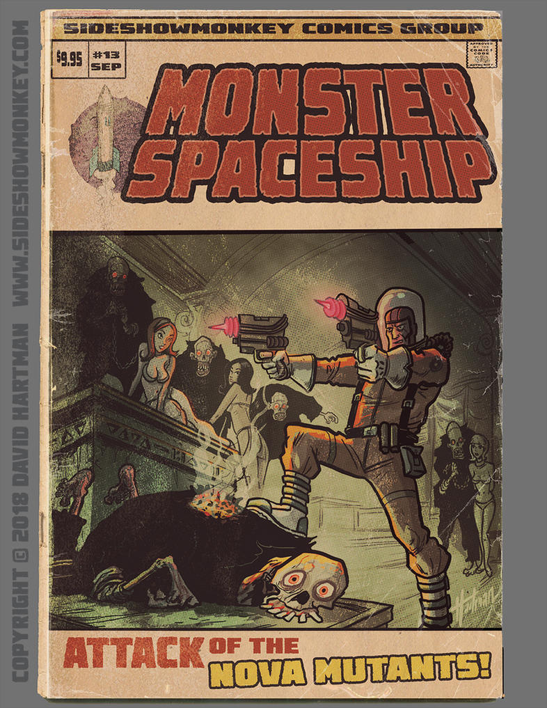 MONSTER SPACESHIP by Hartman by sideshowmonkey