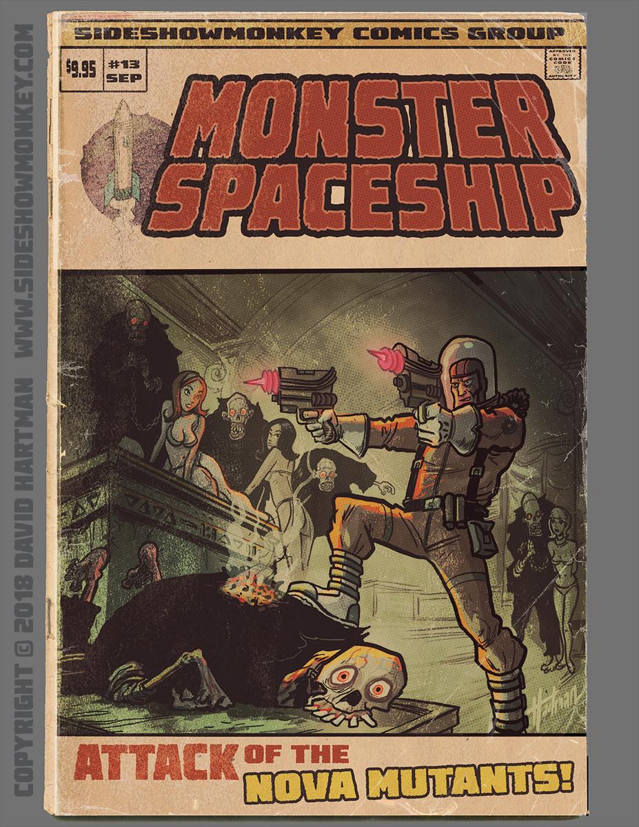 MONSTER SPACESHIP by Hartman