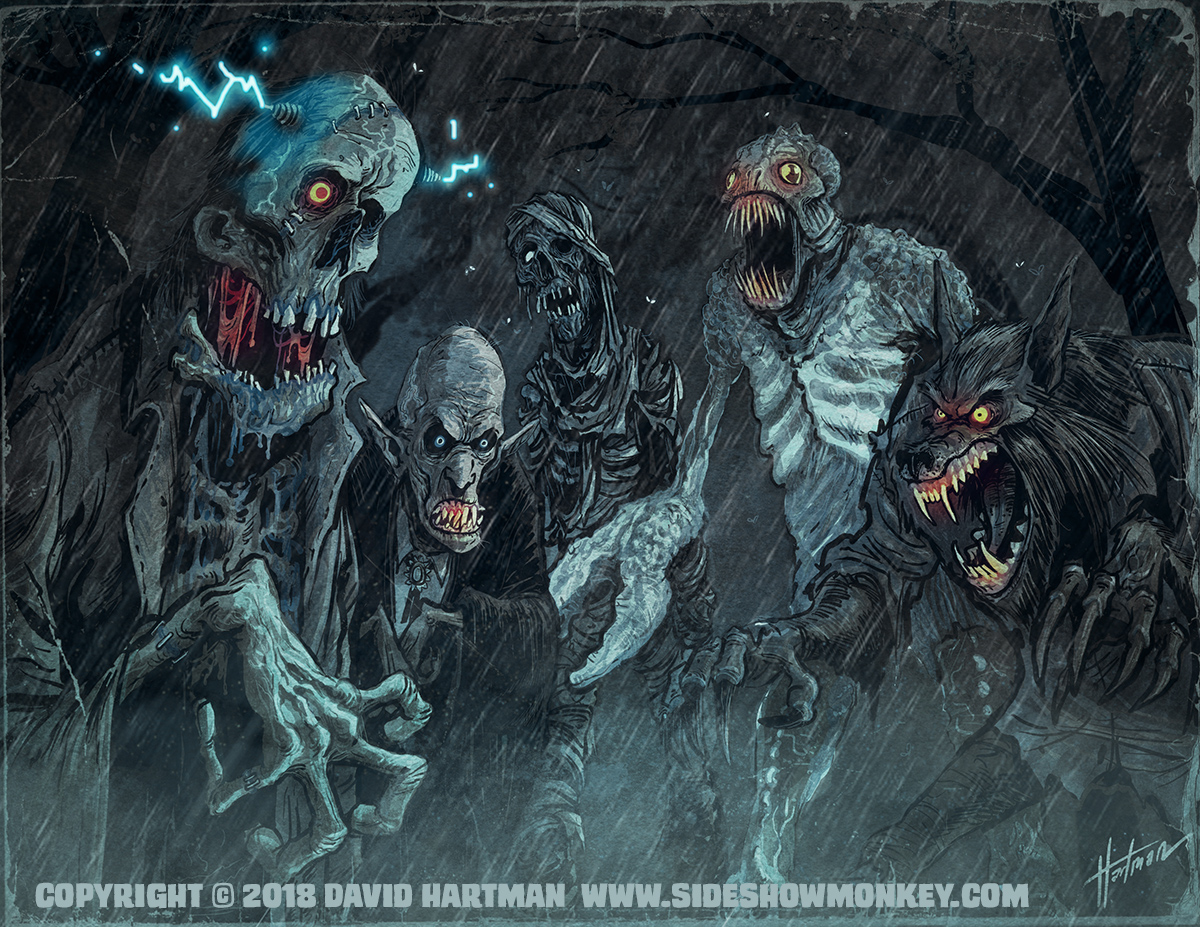 MONSTERS IN THE RAIN by Hartman