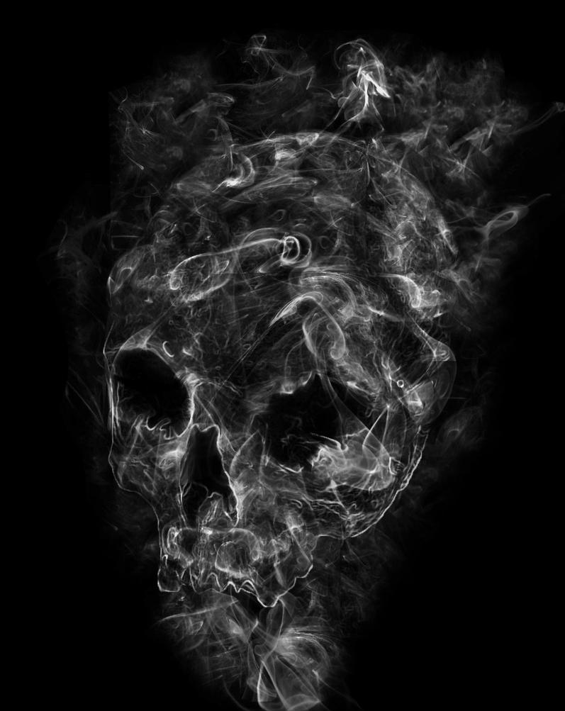 Smoke Skull by Mehgan1 on DeviantArt