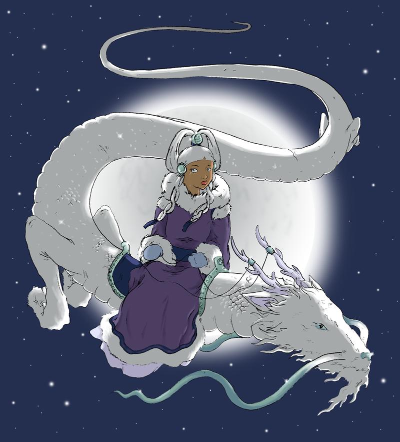 Moon In Avatar Movie: Moon Spirit Princess Yue By Tatter-Hood On DeviantArt