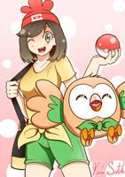 Pokemon Sun/Moon - Rowlet by Banzatou