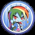 Rainbow Dash (EG) - Button (OLD)