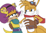 Tails and Mina Prower