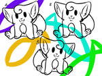 Point Use Lineart - Kittens!