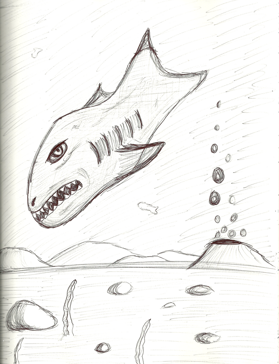 fish in ocean sketch by happyjustbecause on deviantart