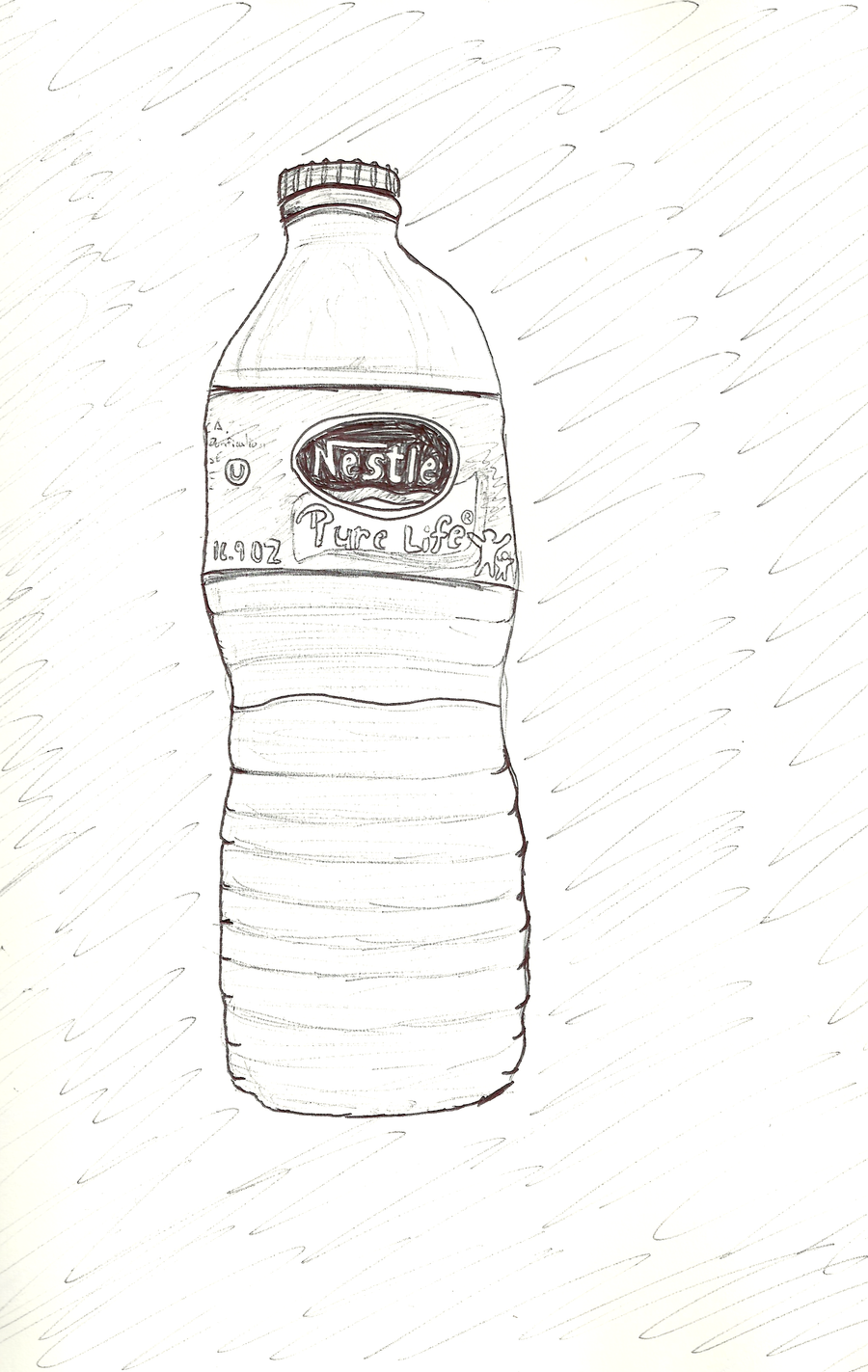 Water Bottle Sketch by happyjustbecause on DeviantArt