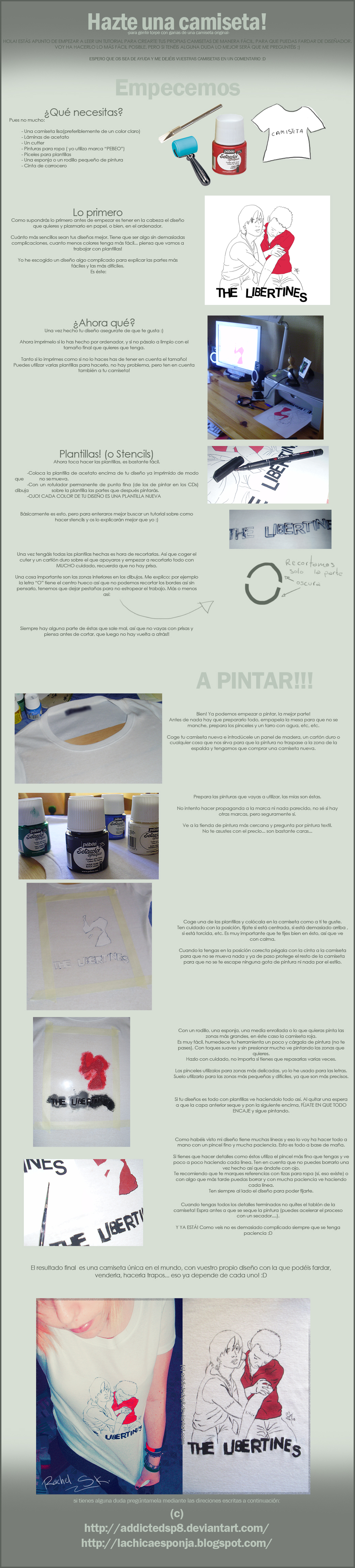 TUTORIAL: pintando camisetas by addictedsp8