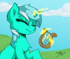 Lyra playing lyra by DanLi69