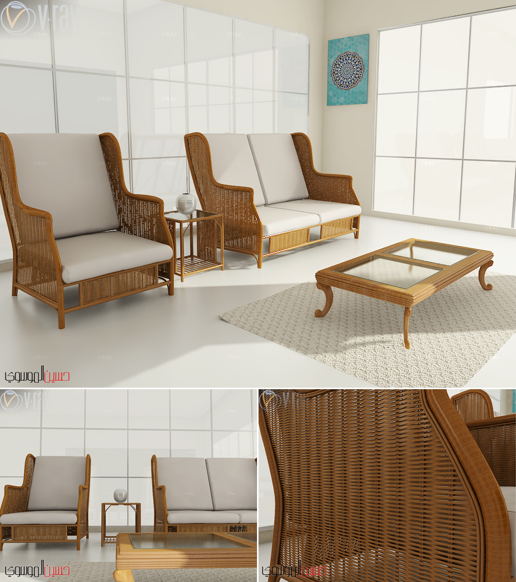 Living Room - 3d by mossawi