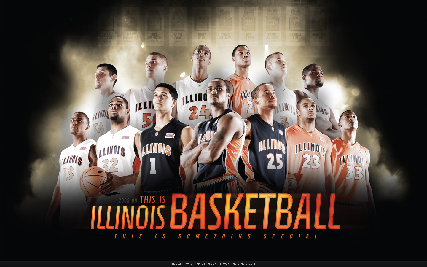 Illinois Basketball Poster by mossawi
