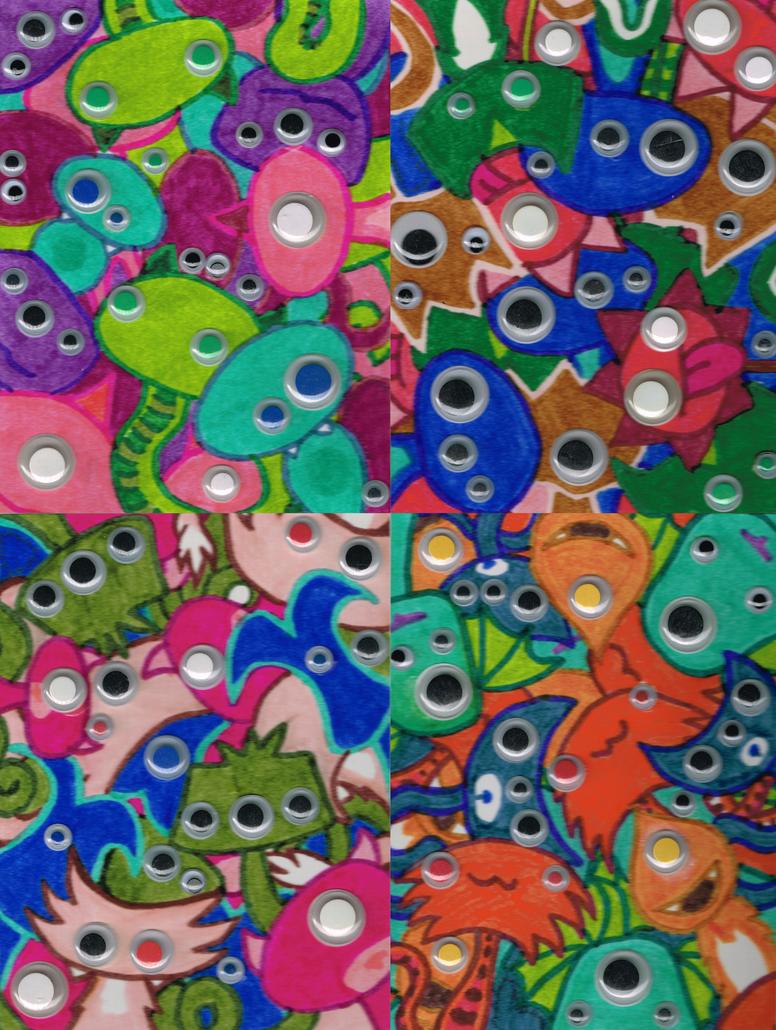 Googly Monsters by RareBeastJoanna