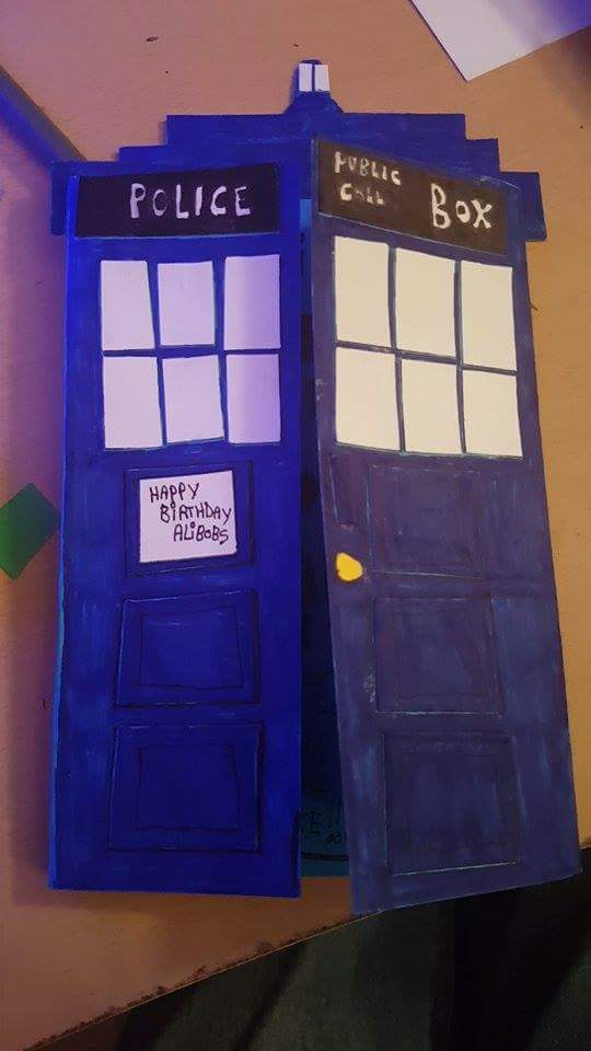 Tardis birthday card! by MadameButterfly94