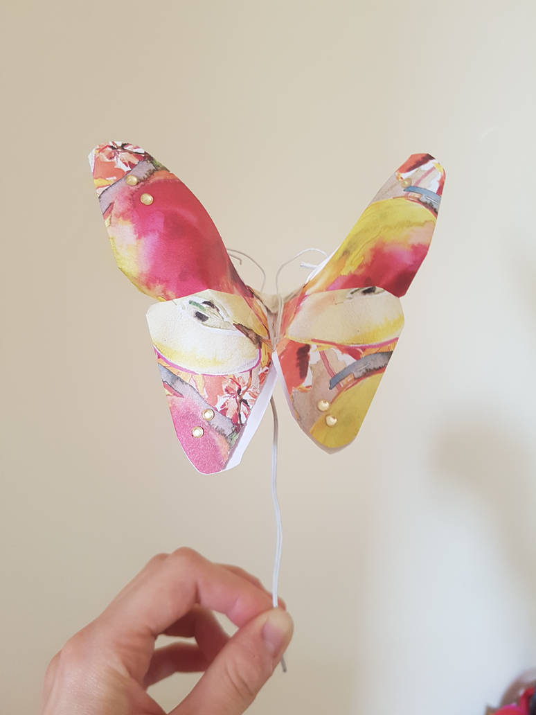 Butterfly table decorations commission.