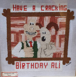Wallace and Gromit Cross Stitch.