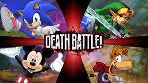 Sonic VS Link VS Mickey Mouse VS Rayman