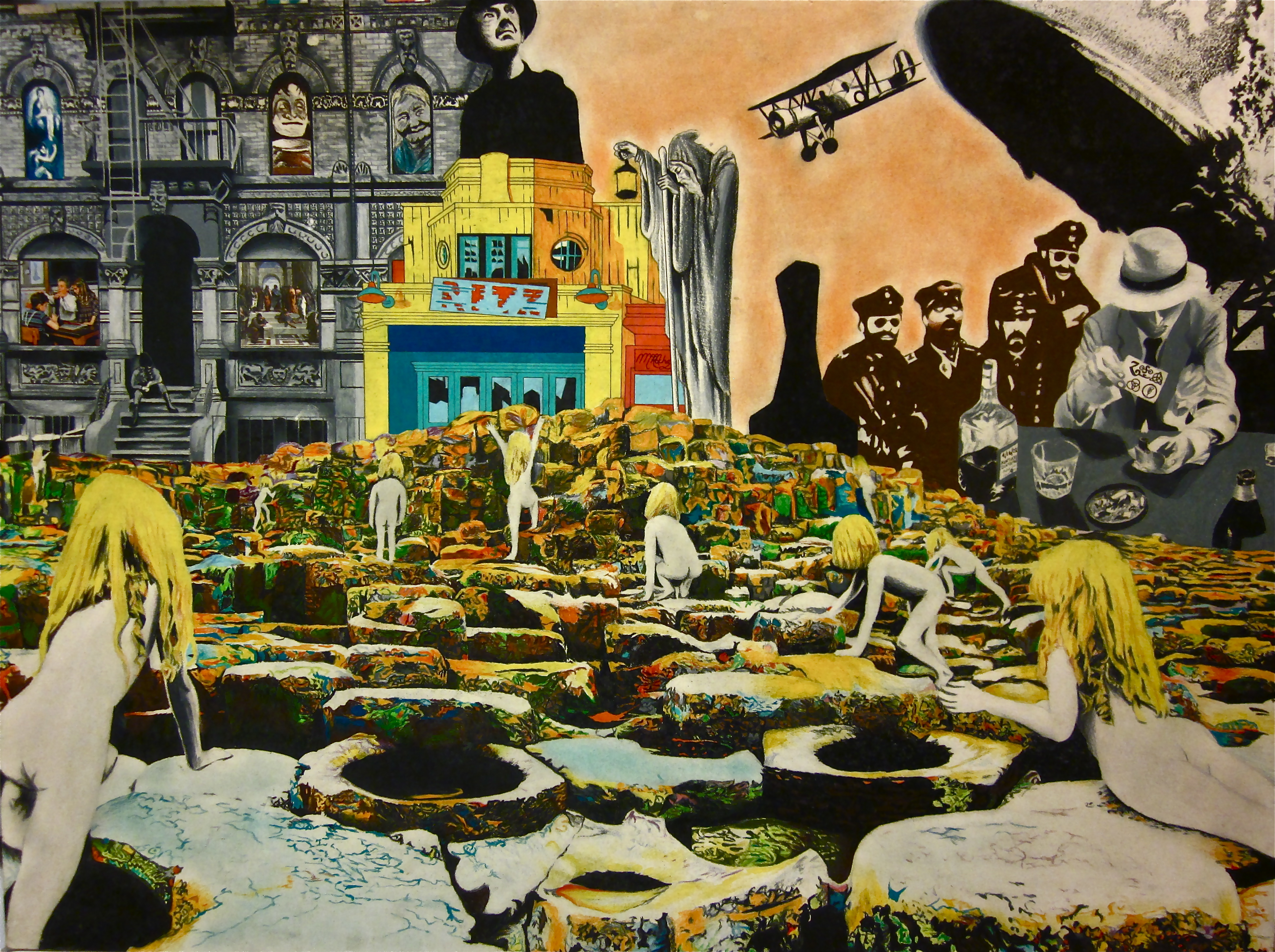 Led Zeppelin Collage Their album covers by rochafeller on