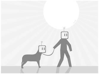 Doggie Walk by Yarrum2