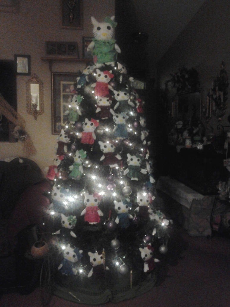Hello Kitty Christmas Tree.My Hello Kitty Christmas Tree By Izzypokemon On Deviantart