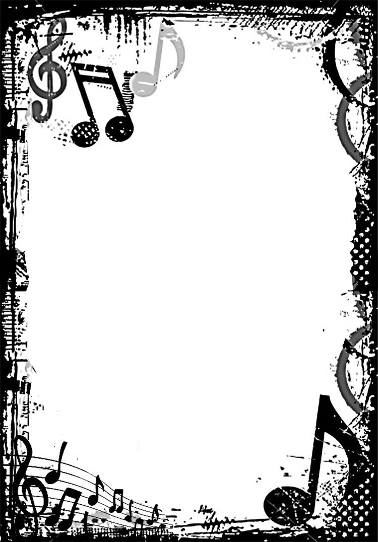 Grunge Music Frame by x-nerd on DeviantArt