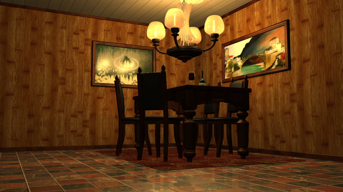 Living Room   3D Model (Maya) By Danny1337 ...