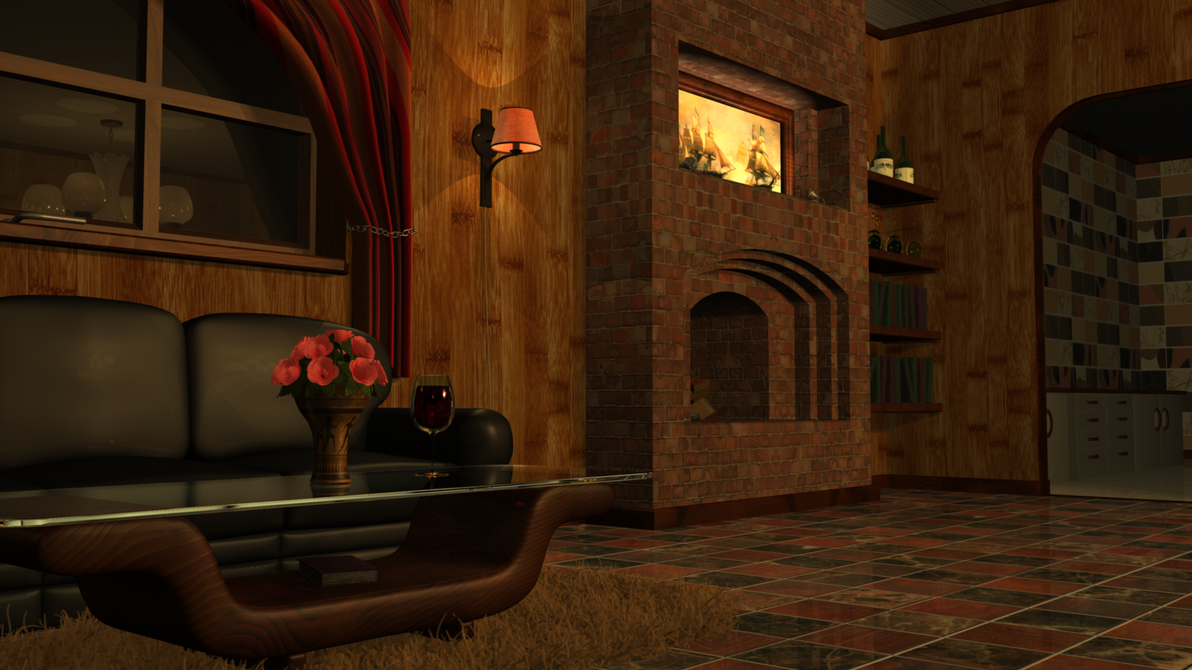 Living Room 3d Model Maya By Danny1337