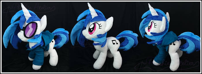 Vinyl Scratch with Hoodie Custom Plushy