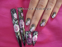 Nail art. Micropittura. Pittura cinese