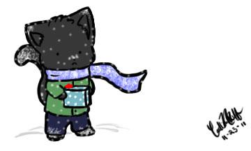 Snow Kitty by DarkLink1123
