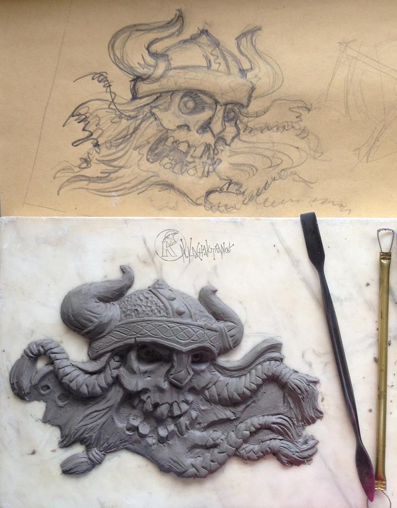 Viking skull by kachaktano